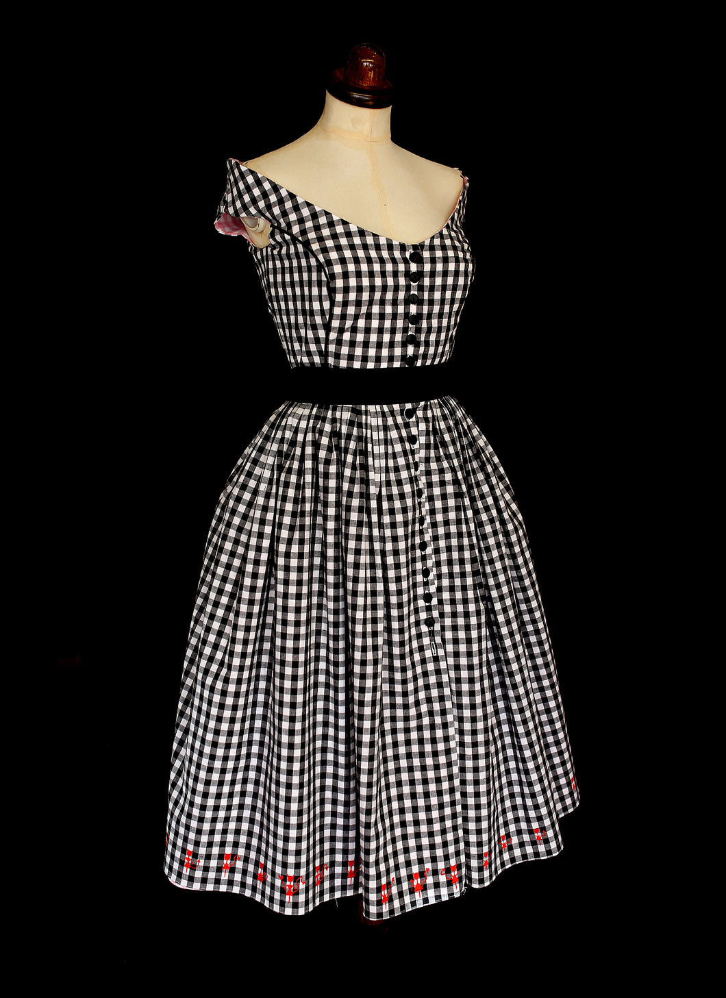 Good Girl / Bad Girl Gingham Dress