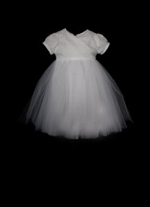 Poppy White Lace and Tulle Flower Girl Dress