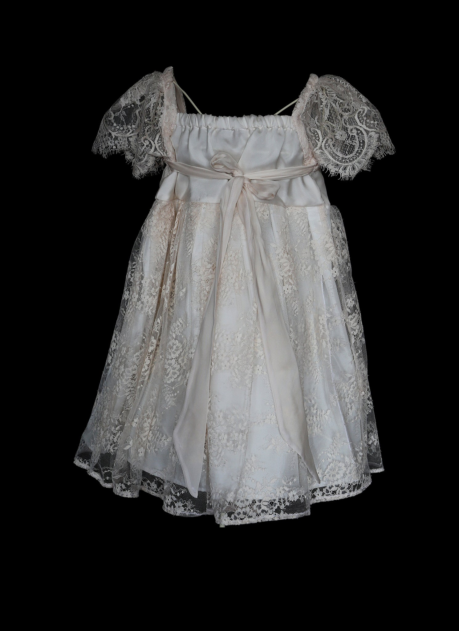 Tilly Blush Lace And Silk Flower Girl Dress Alexandraking