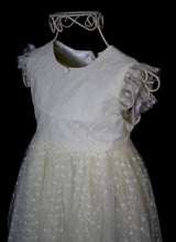 Molly - Cream Dotty Tulle Flower Girl Dress