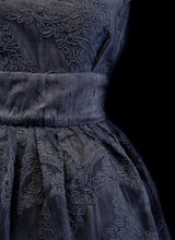 Emily - Black Corded Lace Dress