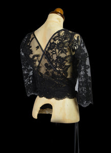 Babette - Black Corded Lace Top