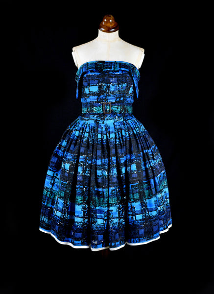 Betty Blue - Mid Century Print Dress