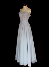 Vintage 1950s Pale Blue Prom Dress