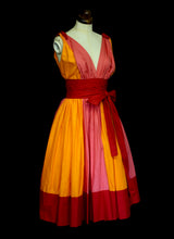 Colour Clash Cotton Sun Dress