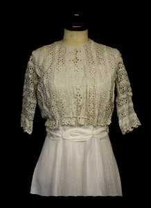Vintage Edwardian Broderie Anglaise Bodice Top