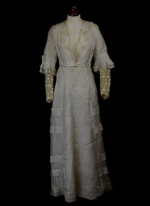 Edwardian 1910s Wedding Dress