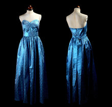 Vintage 1980s Electric Blue Ballgown Dress