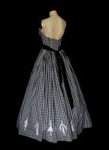 Gingham Cotton Maxi Gown