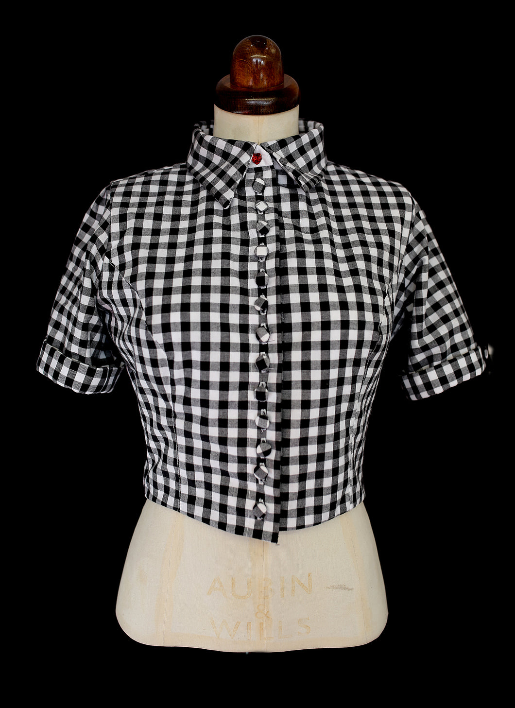 Gingham Blouse Jacket