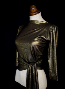Babette Ballet Wrap Top - Black Gold