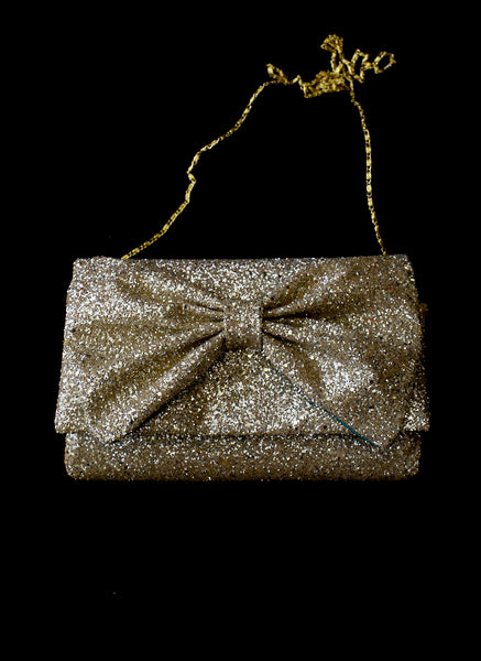 Blondie - Gold Glitter Clutch Bag
