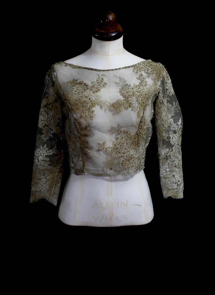 Gold Corded Lace Bodice Top