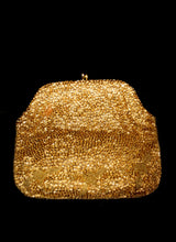 Vintage 1950s Gold Beaded Clutch Bag