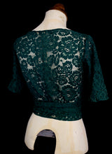 Babette Ballet Top - Green Lace