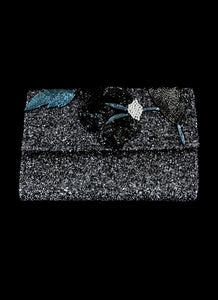 Manhattan - Gunmetal Glitter Clutch Bag