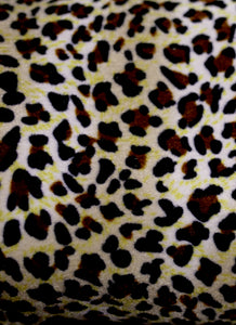 Muff Bag - Leopard Velvet Hand Warmer Bag