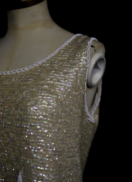 Vintage 1960s Pearl Beaded Bridal Top