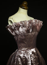 RESERVED Vintage 1980s Pink Metallic Victor Costa Dress and Boa