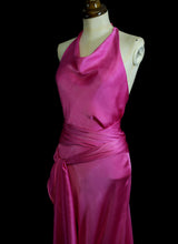 Shocking Pink Bias Cut Dress