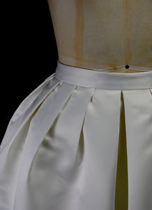 Aurora - Bespoke Silk Satin Pleated Full Skirt
