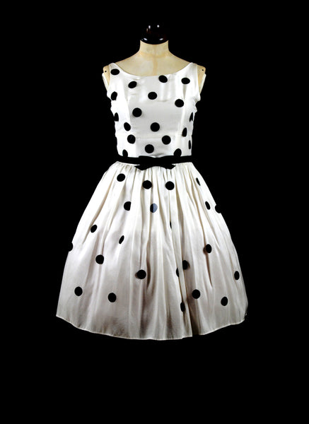 BEAUX Polka dot sequin silk dress