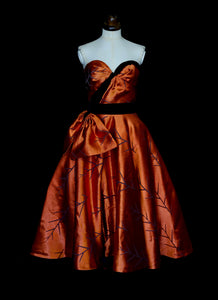 Copper Satin Fire Dress