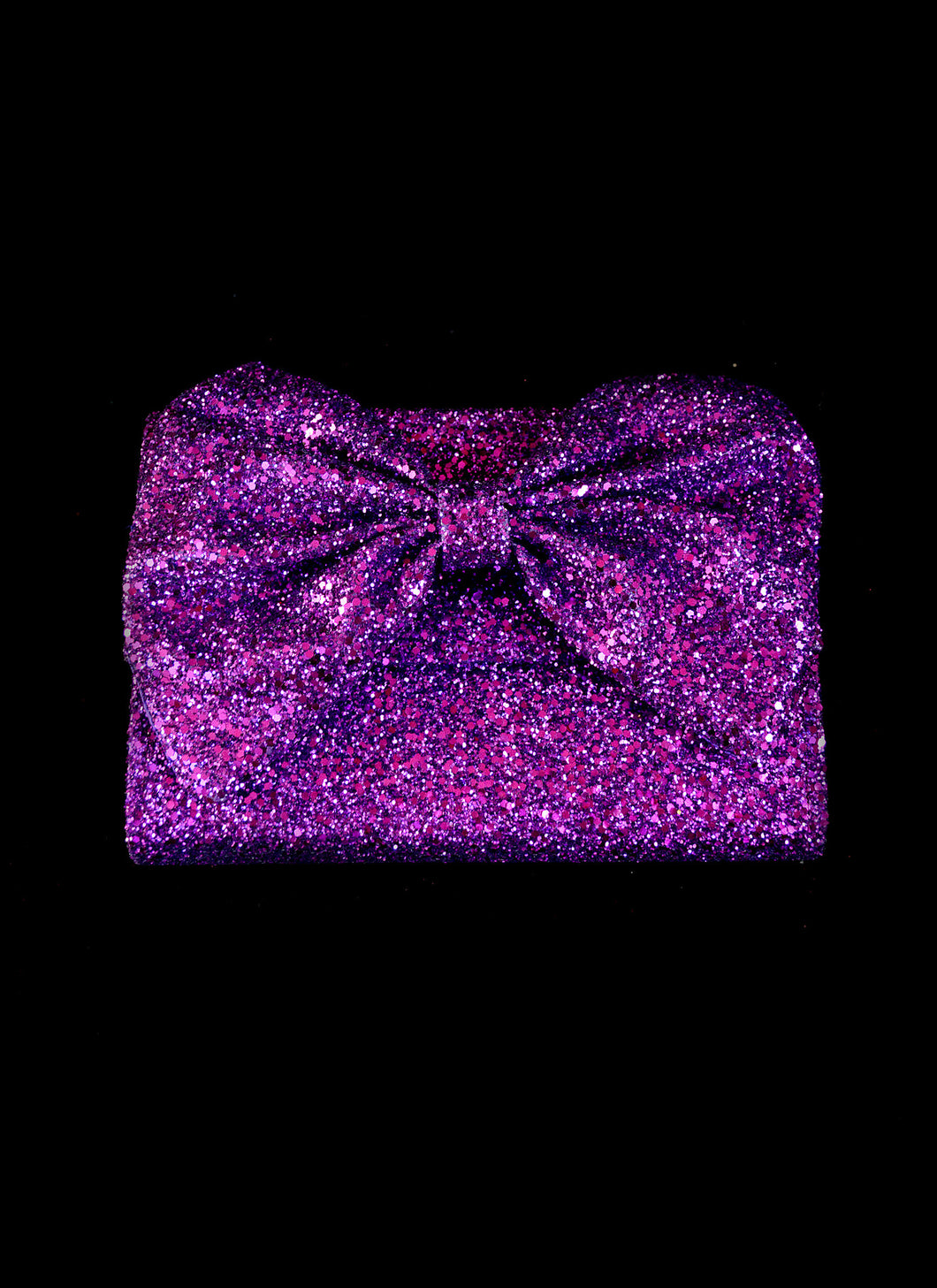 Bag - Violette Glitter Bow Clutch Bag