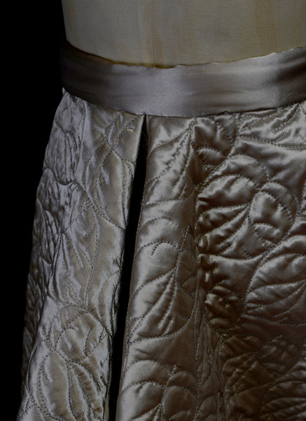 Oyster Quilted Satin Ballgown Skirt