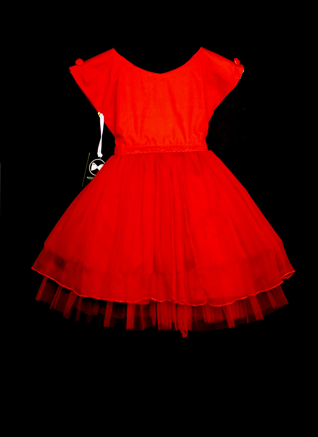Rosey - Red Chiffon Girls Party Dress