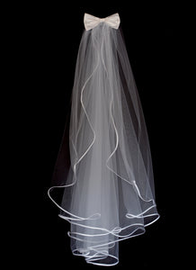 Veil - Satin Edged waterfall Veil