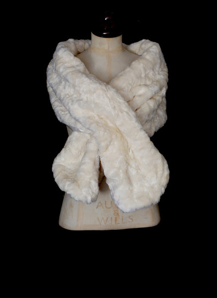 Ivory Faux Fur Wrap