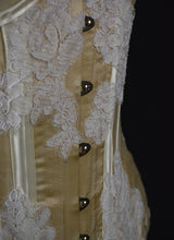 Cream Silk Lace Underbust Bridal Corset