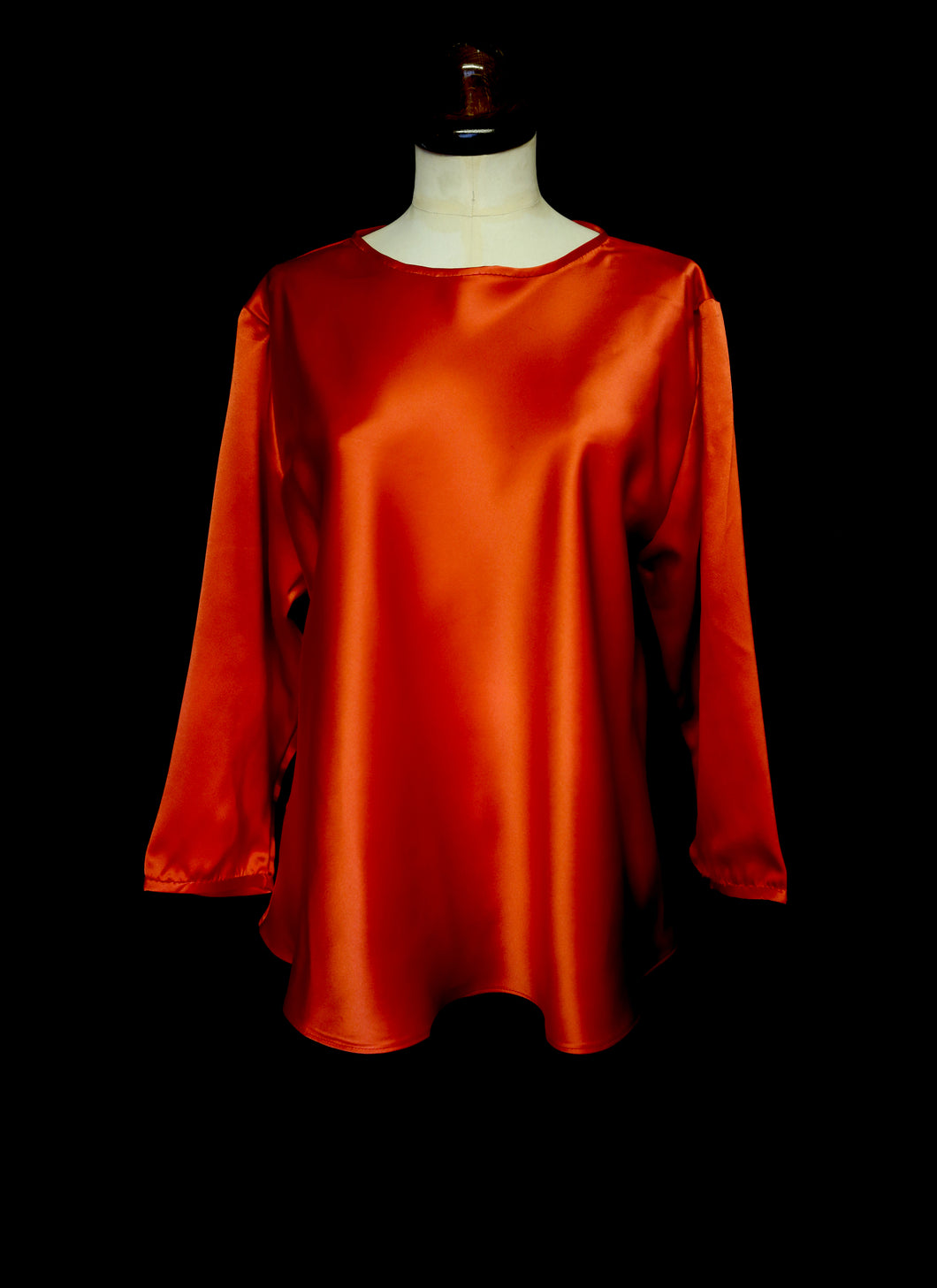 Wade Silk Long Sleeved Top
