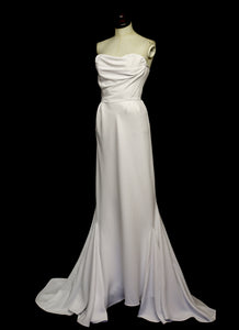 The Bride - Ivory Crepe Old Hollywood Dress and Cape