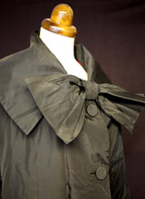 Vintage 1950s Susan Small Black Coat