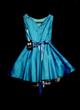 Saffie - Teal Silk Girls Party Dress