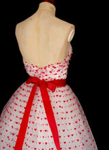 Valentine Red Love Heart Tulle Dress