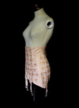 Vintage 1930s Peach Girdle Corset Skirt