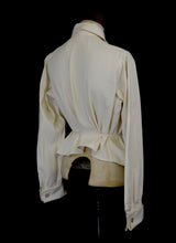 Vintage 1920s Cream Cotton Riding Blouse