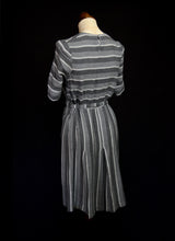 Vintage 1930s Grey Wool Deco Day Dress