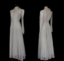 Vintage 1940s Lace Wedding Dress