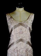 Vintage 1950s Blush Pink Sequin Wiggle Dress