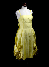 Vintage 1950s Yellow Cocktail Dress