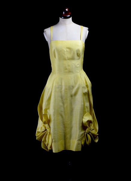 RESERVED Vintage 1950s Yellow Cocktail Dress