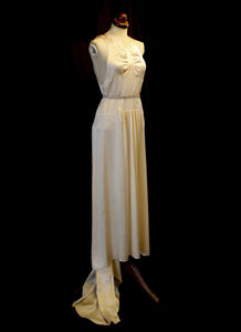 Vintage 1930s Silk Satin Champagne Dress