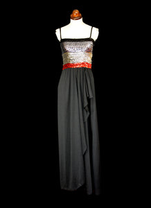 Vintage 1970s Black Sequin Disco Dress