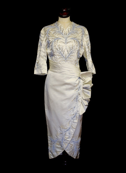Vintage 1950s Couture Beaded Dress