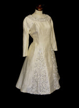 Vintage 1950s Beaded Silk Wedding Dress