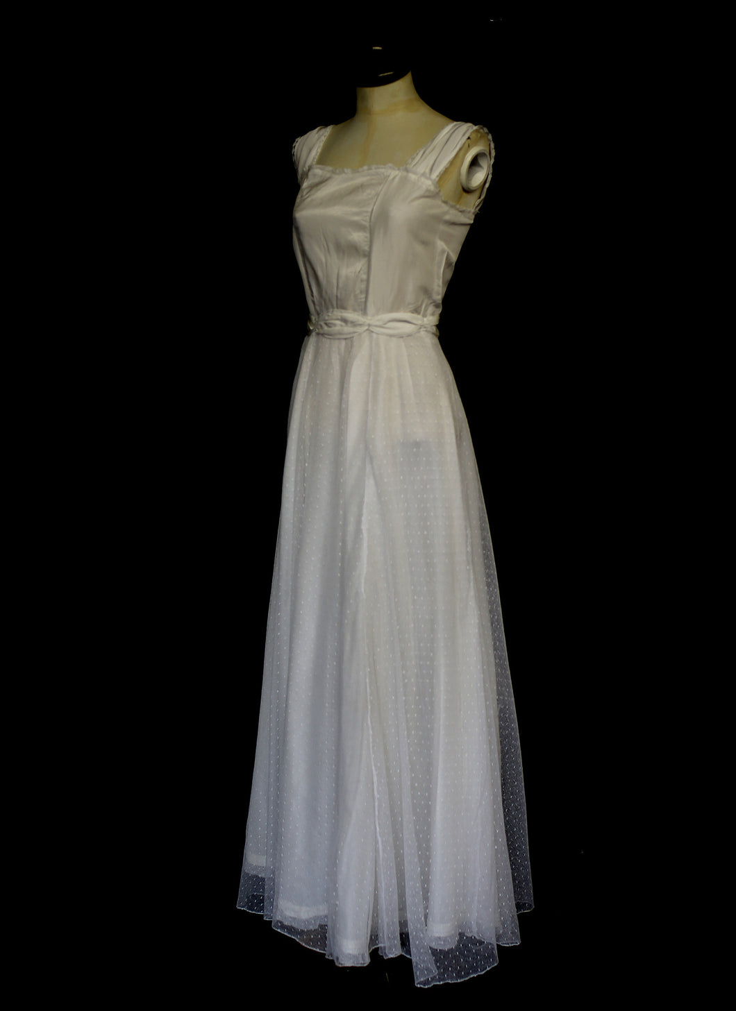 Vintage 1940s Dot Tulle Wedding Dress